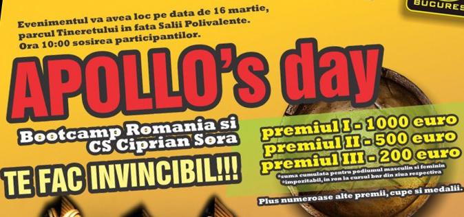 CONCURS! 1 participare gratuita la APOLLO's Day (16 Martie 2013)