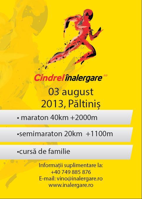 Invitatie la Maratonul Cindrel in Alergare – Paltinis – 3 August 2013